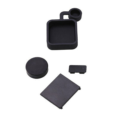 4Pcs Protective Lens Battery Door Side Case Cover Cap Kits For GoPro Hero 3+ 4