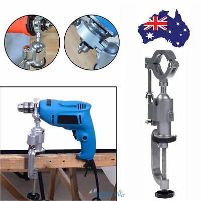 Clamp-on Grinder Holder Bench Vise for Electric Drill Stand 360 degree Rotating