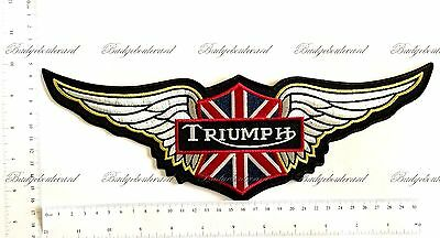 Triumph Wings Motorcycle Badge Embroidered Cloth Back Patch