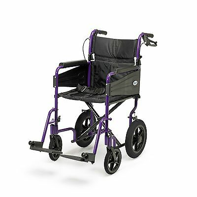 "Days Escape Lite Aluminium Wheelchair Standard 18"" Seat Width - Purple 091547579"