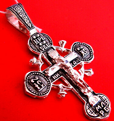 Russian Icon Cross In The Ancient Russian Style Silver 925 #1.23