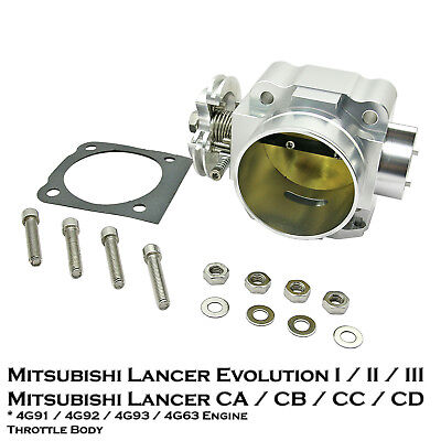 1 Pcs 70mm Aluminum Throttle Body Fixs Lancer Evo 1 2 3 CD9A CE9A 2.0L 4G63