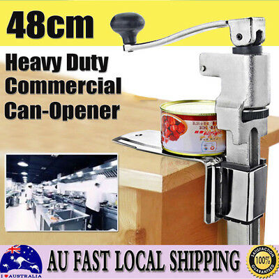 Stainless Steel Large Can Opener Counter Commercial Bench Top Cast Table Mount