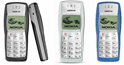 New Condition Nokia 1100 Black Torch Classic Cheap Basic Unlocked Mobile Phone