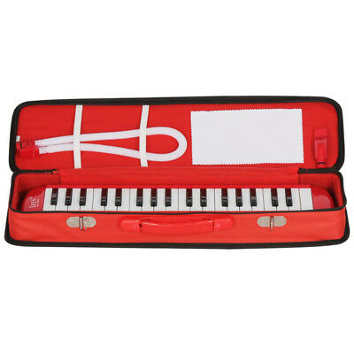 37 Key Melodion Student Melodica/Pianica with Carrying Bag Mouthpiece Red