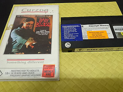 BABY BLOOD Curzon French Horror Movie VHS Tape cult