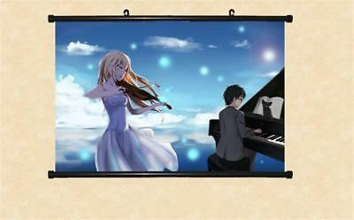 Your Lie in April Miyazono Kaori Poster Wall Mural Scroll Painting 40*60cm