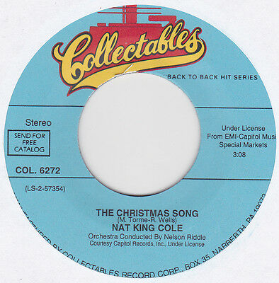"Nat King Cole - The Christmas Song / Ramblin' Rose - 7"" US Vinyl 45 - New"