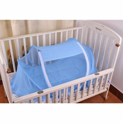 Baby Portable Foldable Bed Crib Canopy Mosquito Net Tent&Mattress Pink Blue