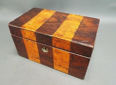 Antique inlaid rosewood wooden tea caddy for restoration