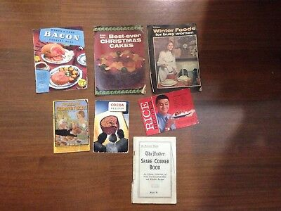 Antique/old Books X7 Cooking Books (some Women's Weekly)