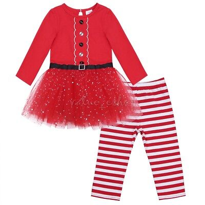 newborn baby boy girl long sleeve christmas clothes santa dress pants outfit