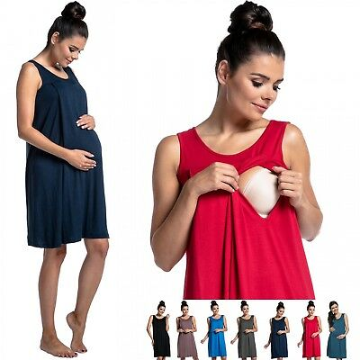 Zeta Ville - Women's maternity nursing nightdress breastfeeding nightie - 994c