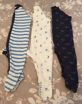 M&S Sleepsuits 9-12months