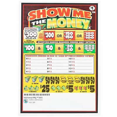 """""""Show Me the Money"""" 5 Window Pull-Tab Tickets - 960 Tickets Per Deal - $685 PO"""