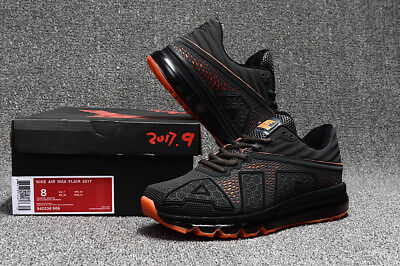 2017 NIKE NEW AIR MAX Men's Black Orange Running Trainers Casual Shoes SIZE8-11