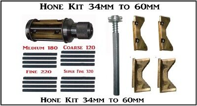 Engine Cylinder Hone Kit - 34mm to 60mm Honing Machine + Honning Stones