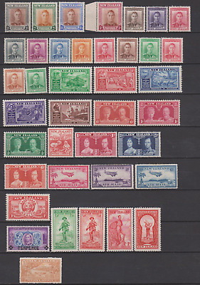 New Zealand 1907/47 MNH/Mint Mounted Collection to 3/-