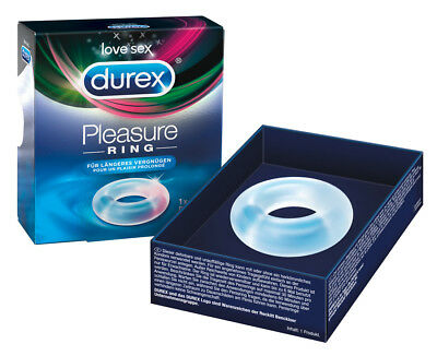 Anello pene cockring ritardante trasparente Durex Pleasure penis ring
