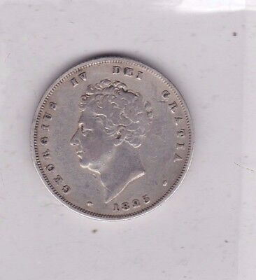 1825 George Iv Silver Shilling In Good Fine Condition