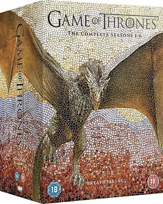 Game Of Thrones Season 1-6 Complete DVD Boxset New And Sealed FREE P&P!!!!!