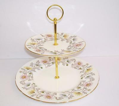 "Vintage E.Brain Foley ""Somerset"" 2 Tier Cake/Afternoon Tea Stand.."