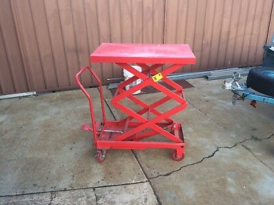 Hydraulic Load Lift Transport work table cart dolly mover platform trolley