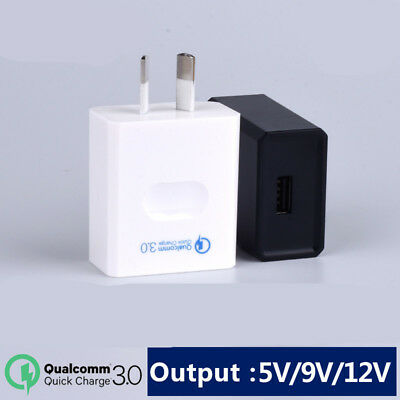 QC3.0 Quick Charge & 5V2A USB Wall Charger Adapter Power Plug AU SAA standard