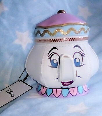 Disney Beauty & Beast 3D MRS POTTS coin purse UK Primark ** NEW WITH TAGS **