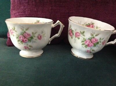 Aynsley Grotto Rose cups, bone china x 2