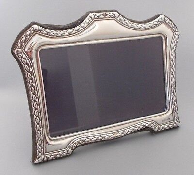 Contemporary solid silver 7.4'' x 5.7'' photo frame, Carrs, Sheffield 1995
