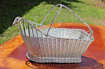 Christofle Silver Plated Wine Server Basket Caddy