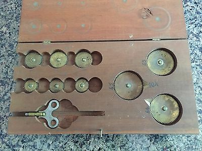 Custom Wooden Box with Clockworks Drive Gears for engines/clocks/music box