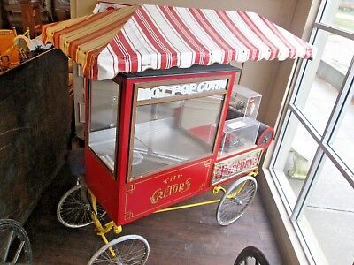 Vintage Cretors Popcorn Machine/cart 4 Wheel Great Condition Works Collection