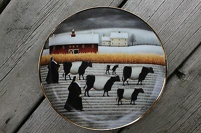 Franklin Mint Limited Edition Plate Herrero American Folk Art HB3392 'Holy Cow'