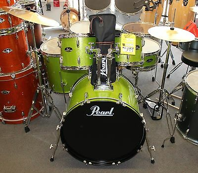 Pearl Roadshow RS525SC 5-Piece Drum Set w/ Hardware & Cymbals GREEN SPARKLE NEW