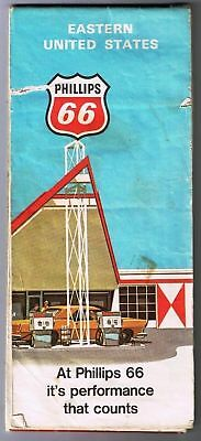 Eastern United States Phillips 66 Road Map 1971