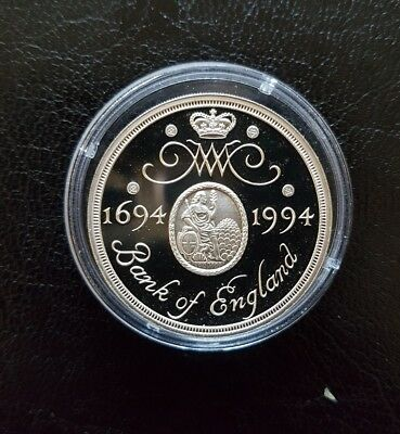 1994 ROYAL MINT SILVER BANK OF ENGLAND £2 TWO POUND PROOF COIN with COA