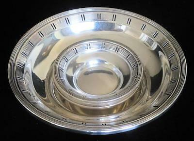 Sterling Silver Art Deco Reticulated Nut Dish Set - One Large & 4 Small Dishes