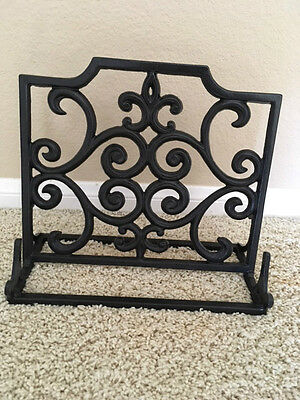 Cast Iron Metal Book Stand Cookbook Bible