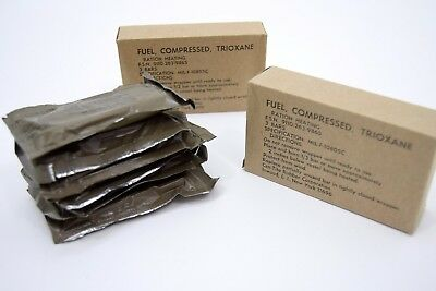 12 X Bars Us Army Ration Heating Fuel Trioxane Bars Hexi Stove Cooker Military