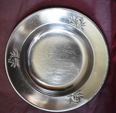 Vintage 50's SQUIRREL Child's plate Silver plated? Gero Zilmeto marked antique