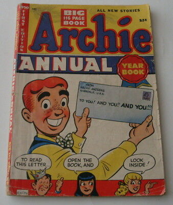 Archie Annual #1, 1950, missing the 1st page only