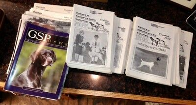 """German Shorthaired Pointer - """" News """" Magazines - 60 Issues - Slightly Used"""
