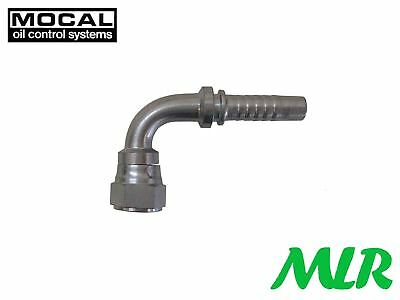 "Mocal Hef97-8 90° An -8 Jic Oil Cooler Hose Pipe Fitting Union For 1/2"" Hose Bbf"