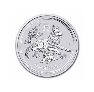 1$ Silber / Silver Australien Lunar II Hund / Year of the Dog 2018 1 OZ