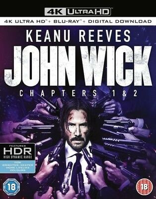 John Wick: Chapters 1 & 2 4k Ultra HD + Blu-ray + Digital brand new