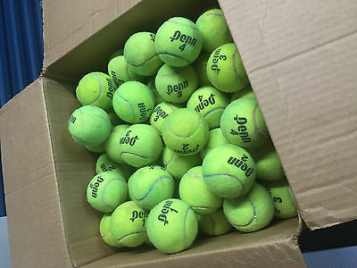 128 Used Tennis Balls - Good For Dogs, Furniture, Etc.
