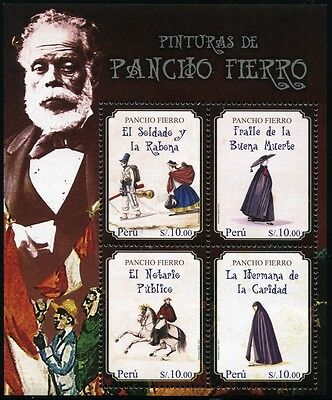 Peru 2014 Pancho Fierro Gemälde Paintings Maler Painter Kunst Folklore MNH