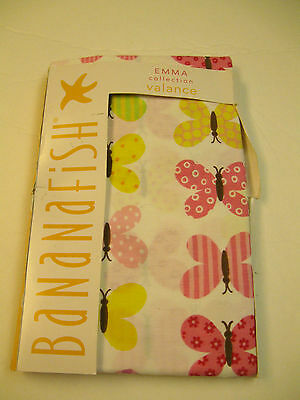 Bananafish EMMA Collection Butterfly Window Valance curtain Drapery 72x15""